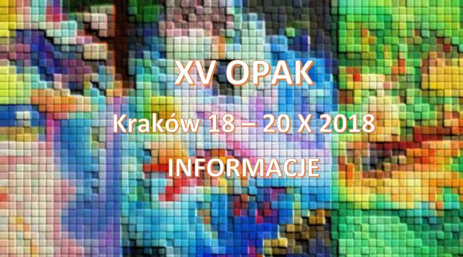 XV OPAK 2018 Info